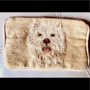 Embroidered WESTIE Dog Coin Purse Zipper Pouch !
